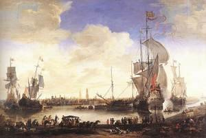 Famous paintings of Ports: The Handelskom at Bruges 1665