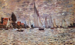 Famous paintings of Ships & Boats: Regatta at Argenteuil  1874