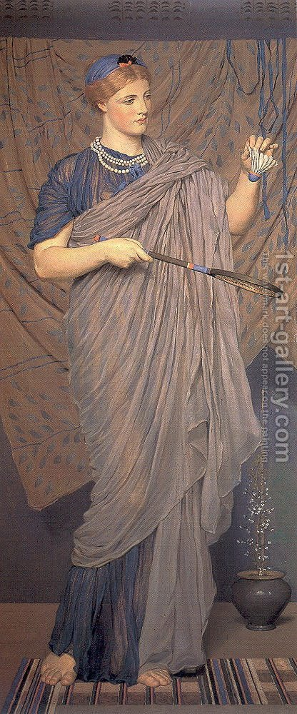 Shuttlecock 1868-70 by Albert Joseph Moore - Reproduction Oil Painting