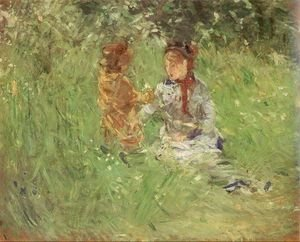 Reproduction oil paintings - Berthe Morisot - Woman and Child in the Garden at Bougival 1882
