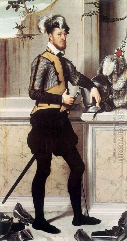 Portrait of a Gentleman c. 1550 by Giovanni Battista Moroni - Reproduction Oil Painting