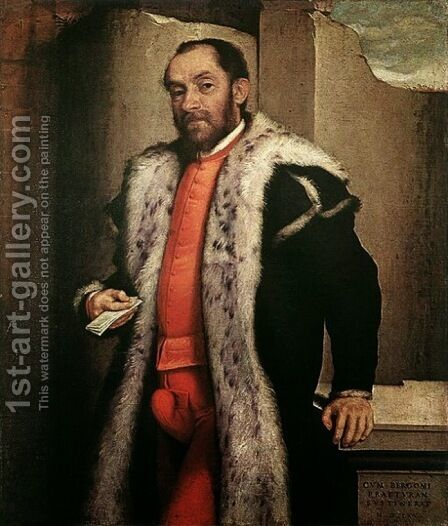 Portrait of Antonio Navagero 1565 by Giovanni Battista Moroni - Reproduction Oil Painting