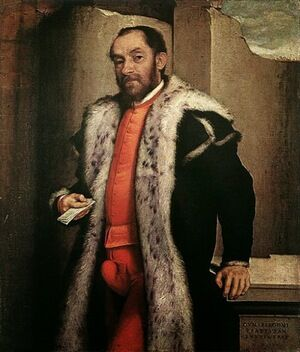 Famous paintings of Men: Portrait of Antonio Navagero 1565