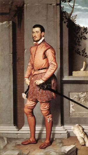 Famous paintings of Men: The Gentleman in Pink 1560