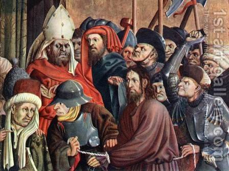 Christ before Pilate (detail-2) 1437 by Hans Multscher - Reproduction Oil Painting