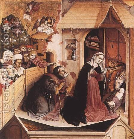 The Birth of Christ 1437 by Hans Multscher - Reproduction Oil Painting