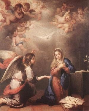 Famous paintings of Angels: Annunciation 1660-65