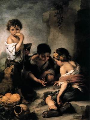 Young Boys Playing Dice c. 1675