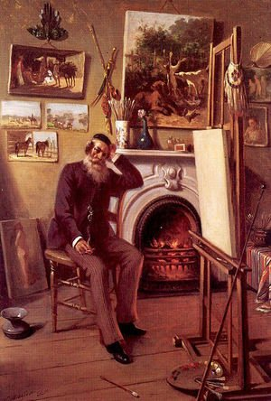 Famous paintings of Furniture: Self-Portrait in the Artist's Studio 1890