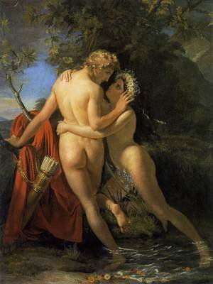 Francois-Joseph Navez reproductions - The Nymph Salmacis and Hermaphroditus 1829