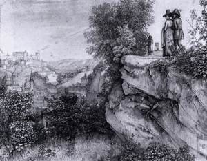 View of Salzburg and the Hohensalzburg Fortress fom the Monschberg 1818
