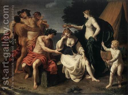 Bacchus and Ariadne by Alessandro Turchi (Orbetto) - Reproduction Oil Painting