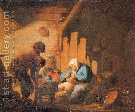 Sight by Adriaen Jansz. Van Ostade - Reproduction Oil Painting