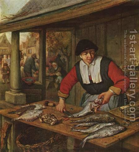 The Fishwife (2) c. 1672 by Adriaen Jansz. Van Ostade - Reproduction Oil Painting