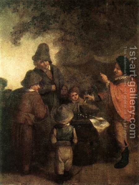 The Stall-keeper by Adriaen Jansz. Van Ostade - Reproduction Oil Painting