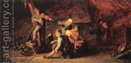 Village Feast 1638 by Adriaen Jansz. Van Ostade - Reproduction Oil Painting