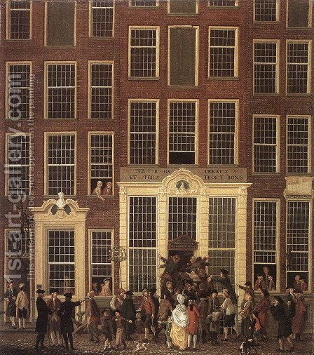 The Lottery Office 1779 by Isaak Ouwater - Reproduction Oil Painting