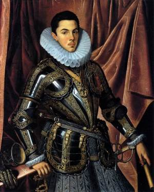 Famous paintings of Men: Portrait of Felipe Manuel, Prince of Savoya c. 1604