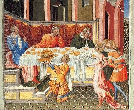 The Feast of Herod 1453 by Giovanni di Paolo - Reproduction Oil Painting