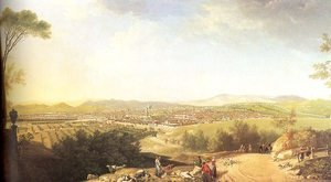 Famous paintings of Villages: A Distant View of Florence 1763