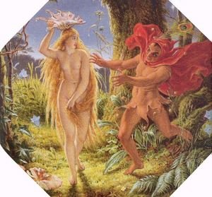 Famous paintings of Fairies: Puck and the Fairy