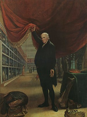 Famous paintings of Men: The Artist in his Museum  1822