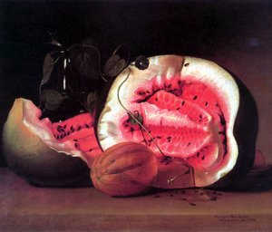 Reproduction oil paintings - Raphaelle Peale - Melons and Morning Glories 1813