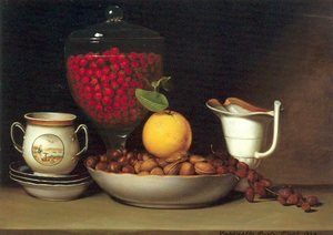 Reproduction oil paintings - Raphaelle Peale - Still Life- Strawberries and Nuts 1822