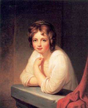 Reproduction oil paintings - Rembrandt Peale - Girl at a Window (Rosalba Peale) 1846