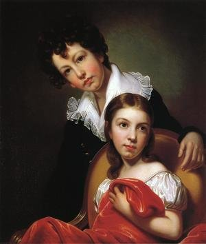 Reproduction oil paintings - Rembrandt Peale - Michael Angelo and Emma Clara Peale 1826