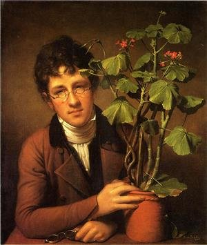 Famous paintings of Men: Rubens Peale with a Geranium 1801