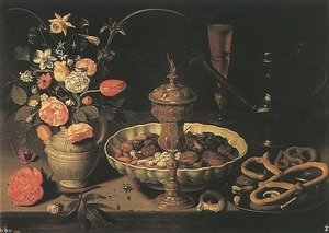 Famous paintings of Bread: Still-life 1611