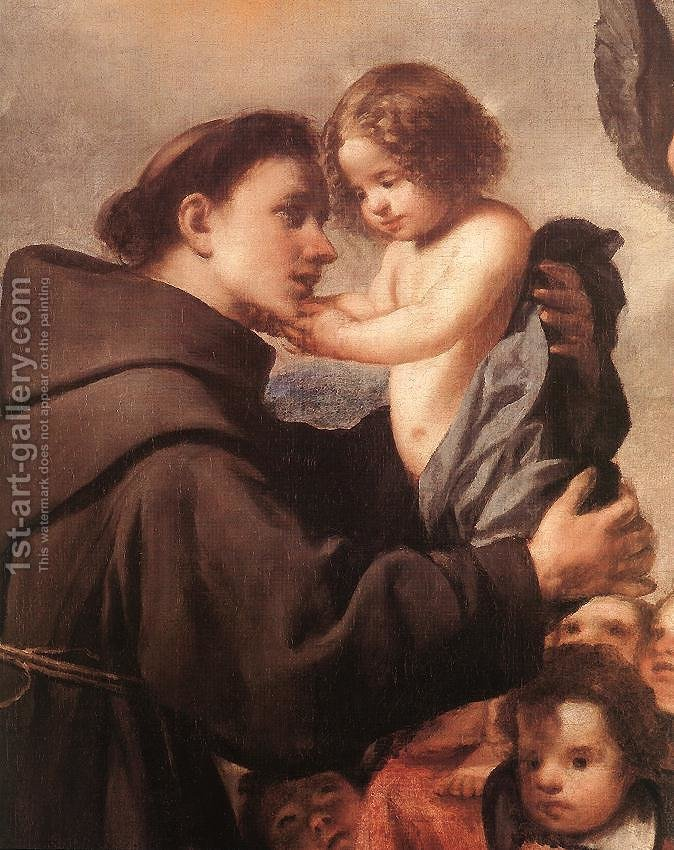 Huge version of St Anthony of Padua with Christ Child (detail)