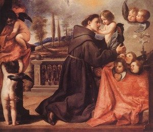 Reproduction oil paintings - Antonio de Pereda - St Anthony of Padua with Christ Child