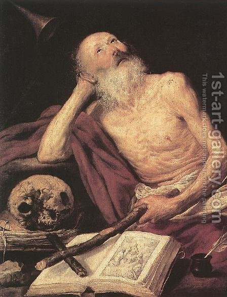Antonio de Pereda: St Jerome 1643 - reproduction oil painting