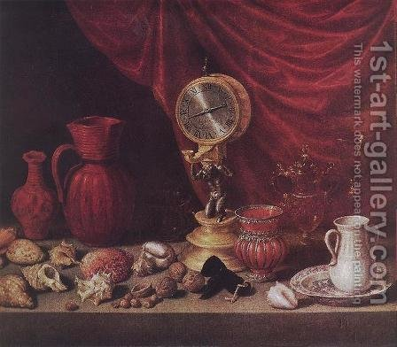 Stiil-life with a Pendulum 1652 by Antonio de Pereda - Reproduction Oil Painting