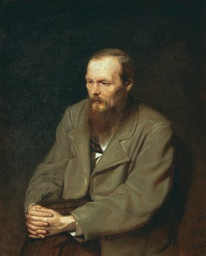 Realism painting reproductions: Portrait of the Writer Fyodor Dostoyevsky 1872