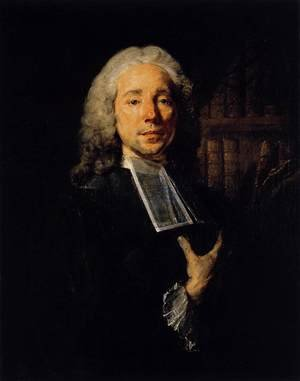 Famous paintings of Men: Portrait of the Lawyer Daniel Jousse 1765-67