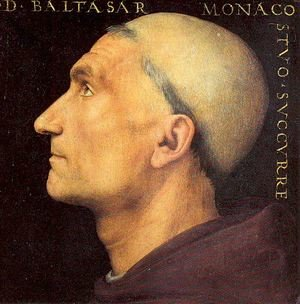 Famous paintings of Men: Portrait of Baldassare Vallombrosano 1500
