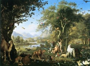 Famous paintings of Camels: The Earthly Paradise