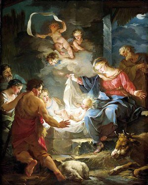 Rococo painting reproductions: Nativity