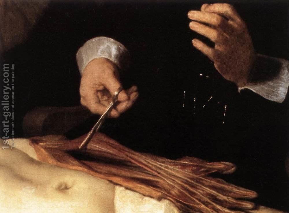 The Anatomy Lecture of Dr. Nicolaes Tulp (detail) 1632 Rembrandt ...