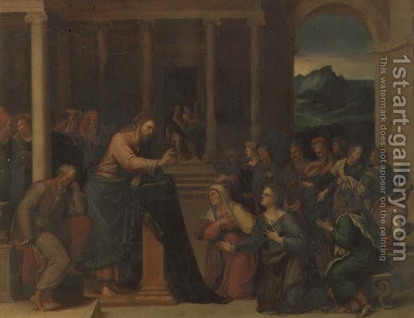 Christ In The House Of Mary And Martha By Girolamo Da Carpi   Reproduction  Oil Painting