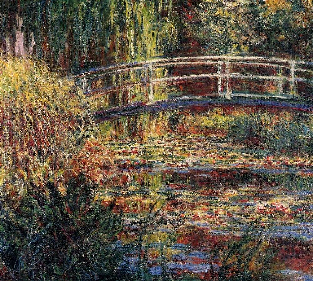 Water-Lily Pond, Symphony in Rose Claude Oscar Monet Reproduction ...