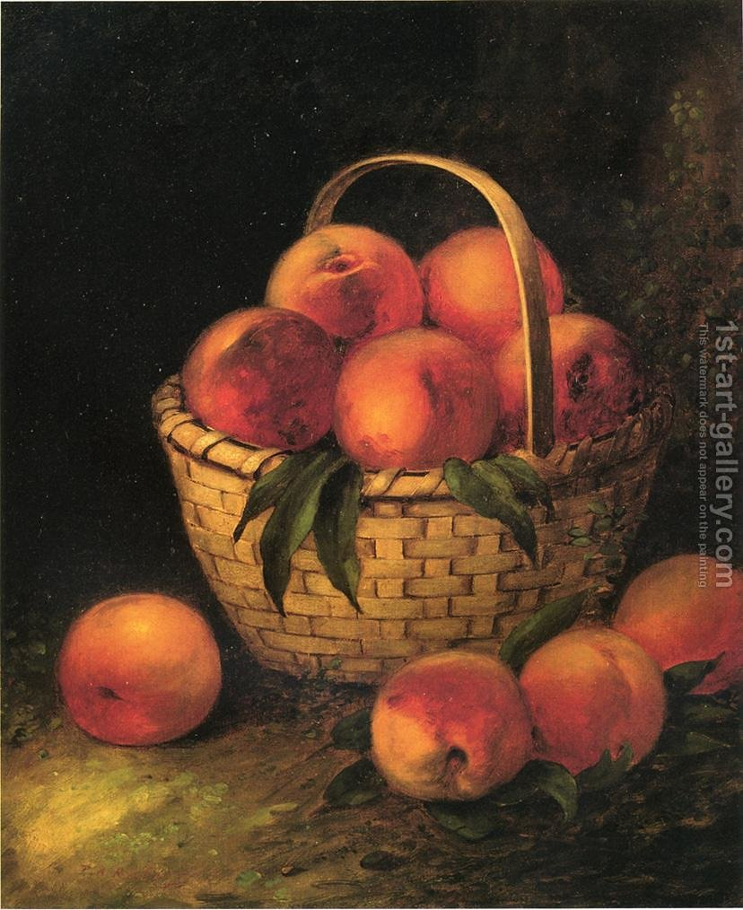 Basket of Peaches Thomas Addison Richards Reproduction | 1st Art Gallery