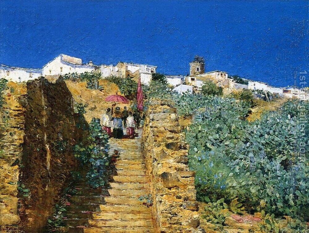 High Quality Church Procession, Spanish Steps By Frederick Childe Hassam   Reproduction  Oil Painting