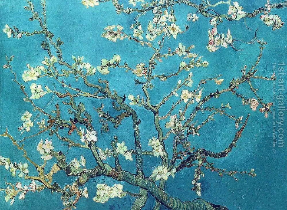 Branches with Almond Blossom Vincent Van Gogh Reproduction | 1st Art ...