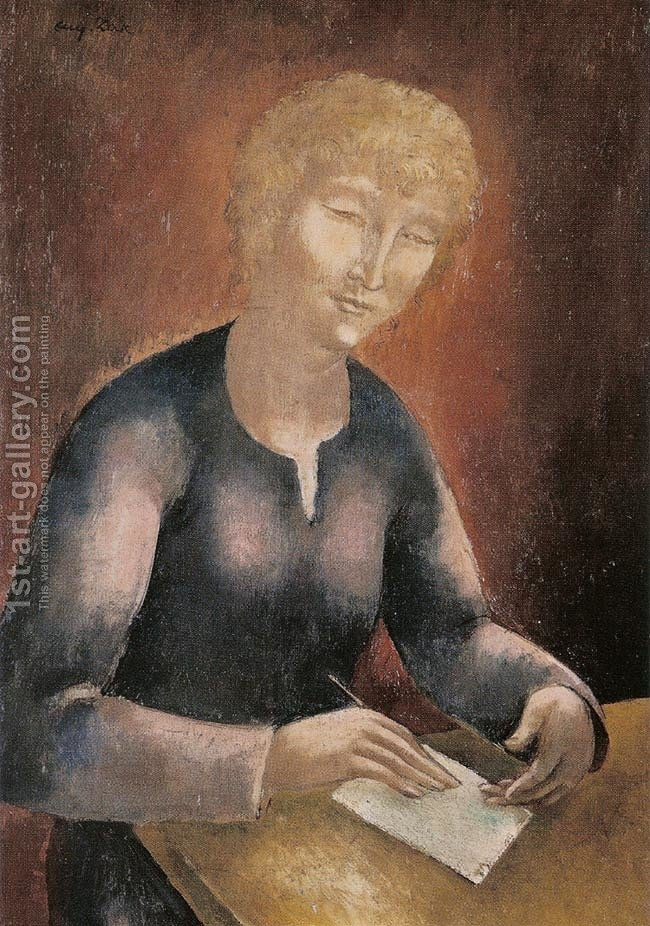 Woman Writing a Letter Eugene Zak Reproduction