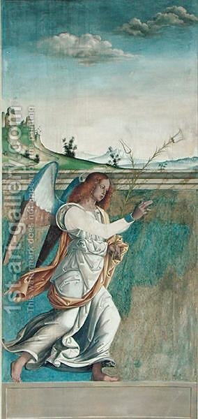 Angel Gabriel, Annunciation Panel Originally Forming One Of The Outside  Shutters Of The Organ In