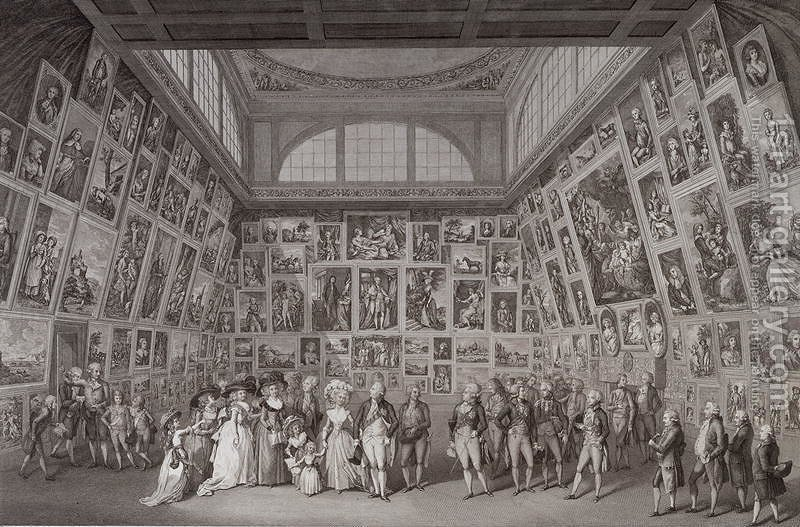 Interior View Of Somerset House Showing King George III (1738 1820), Queen